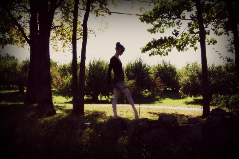 Danceing in the fall leaves