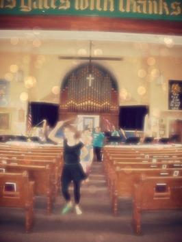 Danceing through the church