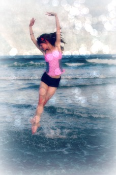 Danceing at the beach