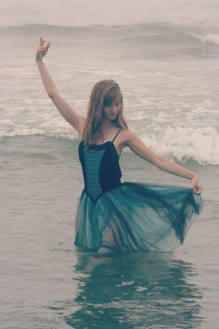 Dancing in the ocean